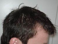 umyte vlasy pohled zleva